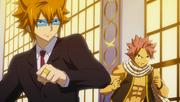 Natsu et Léo, prêts à combattre contre l'armée royale