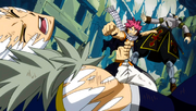 Natsu vs Sting et Rogue