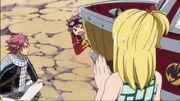 Edo-natsu effrayé par lucy