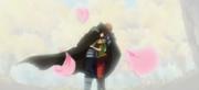 Kanna dans les bras de son père