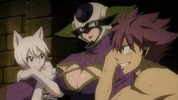Kyôka attrapée par Natsu et Lisana