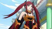 Erza portant l'Armure de l'Impératrice des Flammes