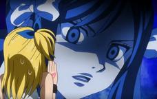 Erza fait peur a Lucy