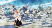 Natsu porte Lucy sur son dos