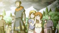 Mako Miko et le forgeron assistent au sort Law
