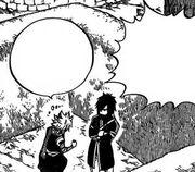 Natsu prend Rog à part pour discuter