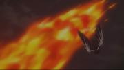 Mald Gheel esquive le Hurlement du Dragon de Feu de Natsu