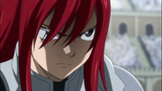 Erza furieuse contre Saber Tooth