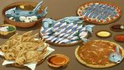 Plats à base de Poisson Volants de Fried