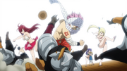 Team Natsu attaque l'armée Arbaless