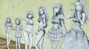 Mirajane, Erza, Kanna, Jubia, Reby et Biska transformées en pierre