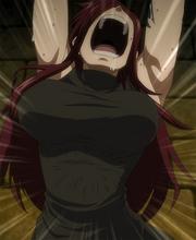 Erza torturée par Kyôka