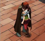 Gildarts sert Kanna dans ses bras