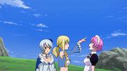 Lucy donnant une pinchenette à Virgo