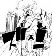 Arcadios revêt son armure de combat, le Lis Blanc