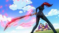 Erza s'aprète à utiliser Benizakura contre le Gang des Poitrines Dodues