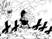 Zeleph survit à l'attaque de Natsu