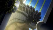 Dragon de Pierre arrive par la porte