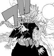 Zeleph plante sa main en Natsu
