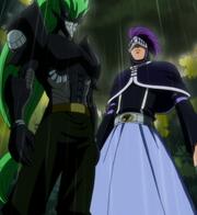 Fried et Bixrow affrontent Rustyrose (anime)