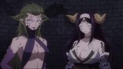 Kyôka et Seila apparaissant, utilisant le Macro pour immobiliser les ennemis et l'ex président