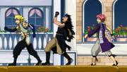 Les trois Chasseurs de Dragon malade pendant l'épreuve du Chars d'assaut