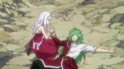 Mirajane et Fried après leur combat