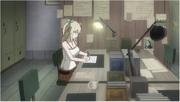 Lucy rédige un article pour le Sorcerer