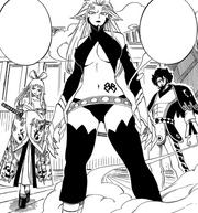 Ninehart fait apparaître Kyôka, Azuma et Ikaruga