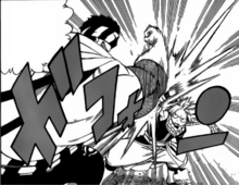 Bakyll et Natsu se battent