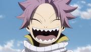 Natsu est en train de rigoler avec les géants