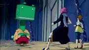 Natsu et Coco face à Gatman