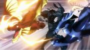 Représentation des Dragons Slayers détruisant le Droma Anim