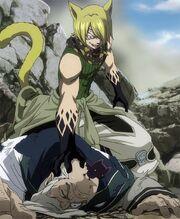 Jackal s'apprêtant à tuer Ork