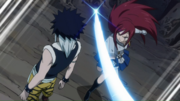 Erza attaque Midnight