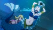 Lucy invoque Aquarius lors de la Bataille Navale