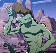 Un Homme-Lézard à l'apparence de Wakaba
