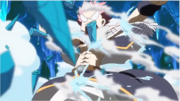 Natsu se prend des pics de Glace