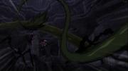 Les Dragons Jumeaux fouétés par un plante anime