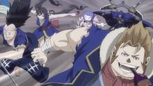 Troupe des Loups affamés s'élance à la poursuite de Natsu