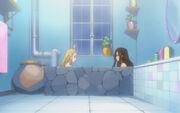 Épisode 97-01-Kanna et Lucy au bain