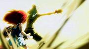 Rob protège Erza (anime)