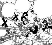 Les mages de Fairy Tail rejoignent la bataille face aux soldats