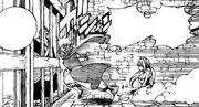Natsu réclame Grey à Gômon