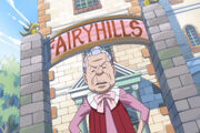 Hilda devant le dortoir Fairy Hills