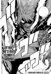 Natsu éveillé en E.N.D fait face à Grey