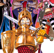 Luffy's Knight Outfit in the Thriller Bark Arc