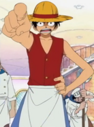Luffy's Baratie Chore Boy Outfit