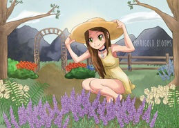 Marigold Blooms Garden