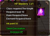Hp Mastery Lv 1 (1st)